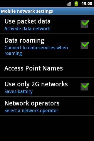 วิธีตั้งค่าเมื่อ แอนดรอยด์เล่น Edge/3G ไม่ได้