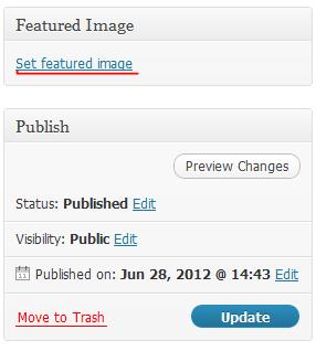 วิธีตั้ง Feature Image ให้กับเวิดเพลส