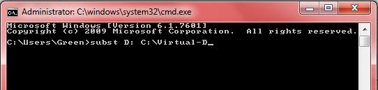 Virtual Drive D:\