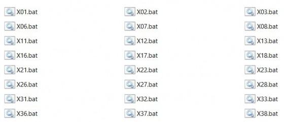 ตัวอย่างไฟล์ bat