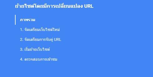 การย้ายไซต์โดยมีการเปลี่ยนแปลง URL