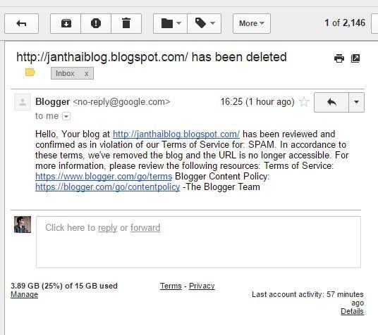 blogspot.com has been deleted